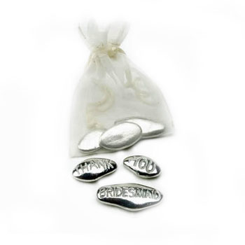 'Thank You Bridesmaid' Pewter Pebbles