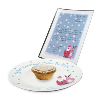 Santa's Mince Pie Plate and Letter