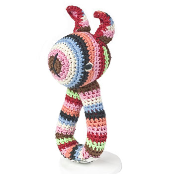 Crochet Rabbit Ring Rattle by Anne Claire Petit