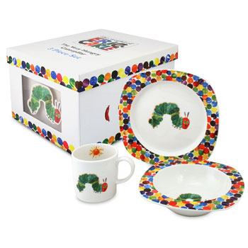 Portmeirion Very Hungry Caterpillar 3 Piece China Dinner Set