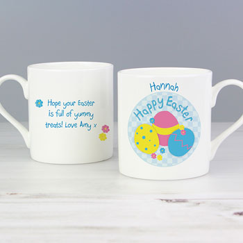 Personalised Easter Eggs Mug With Chocolates