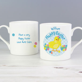 Personalised Easter Chick Mug with Chocolates