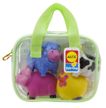 Farm Bath Squirters by Alex Toys