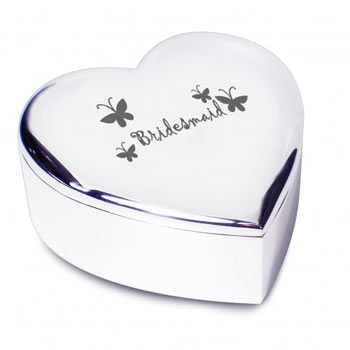Bridesmaid Heart Trinket Box Non Personalised