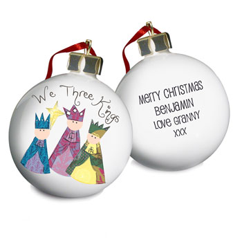 Nativity We Three Kings Christmas Tree Bauble