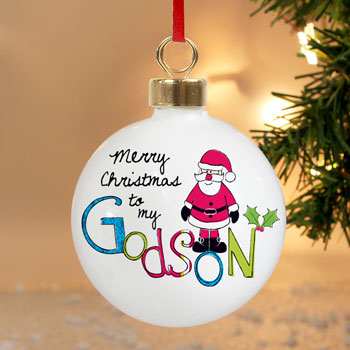 EXCLUSIVE - Godson Christmas Tree Bauble