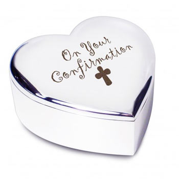 Confirmation Silver Plated Trinket Box (Non-Personalised)