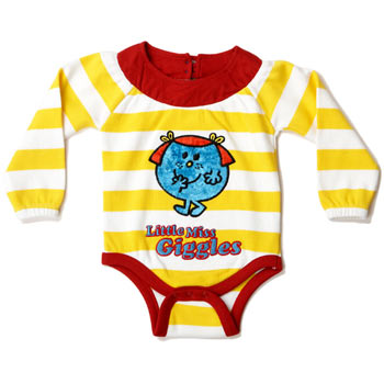 Little Miss Giggles Stripe Babygrow