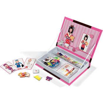 Janod Magnetic Book - Girl's Dressing Up