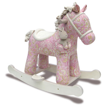Pink Rocking Horse - Pixie and Fluff by Little Bird Told Me