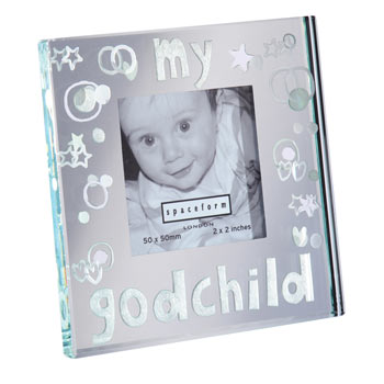 Mirror Frame 'My Godchild' With Free Spaceform Gift Bag