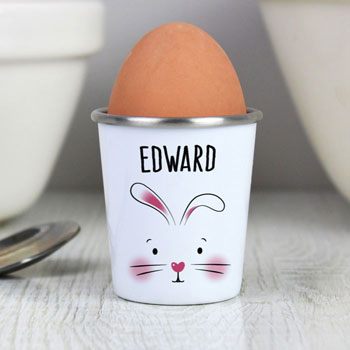 Children's Personalised Easter Bunny China Egg Cup