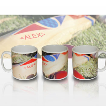 Personalised Cricket Bat Mug