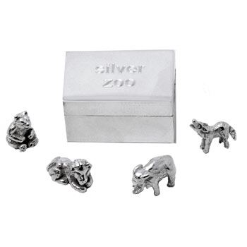 Sterling Silver Zoo in a Box in Presentation Box