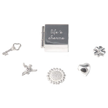 Silver Life's Charms in a Box with Presentation Box