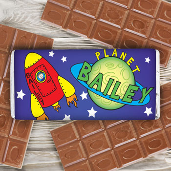 Personalised Space Chocolate Bar