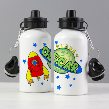 Personalised Space Drinks Water Bottle