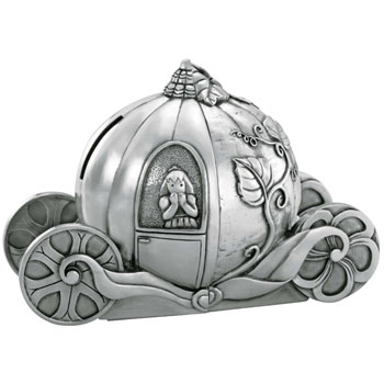 Pewter Cinderella Bookends Money Box by Royal Selangor