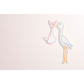 Stork New Baby Photo Album