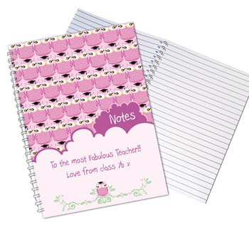 Mr or Mrs Teacher Owl A5 Notebook