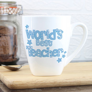 World's Best Male or Female Teacher Personalised China Mug