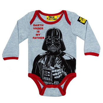 Darth Vader Babygrow 0 to 6 Months or 6 to 12 Months