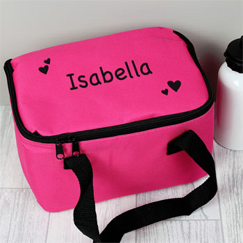 Girl's Personalised Pink Insulated Lunch Sandwich Bag