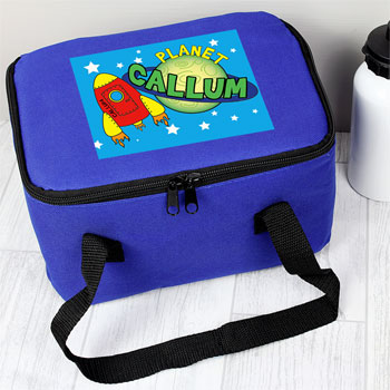 Boy's Personalised Space Insulated Lunch Sandwich School Bag