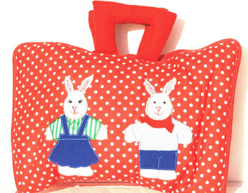 Twin Bunnies Dressing Up Bag
