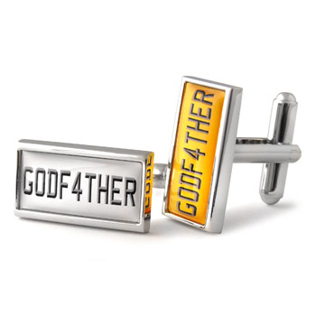 Godfather Number Plate Cufflinks