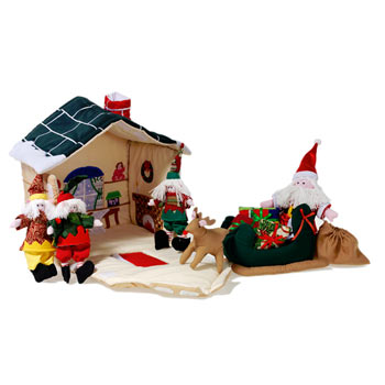 Santas Workshop Christmas Playset by Oskar and Ellen