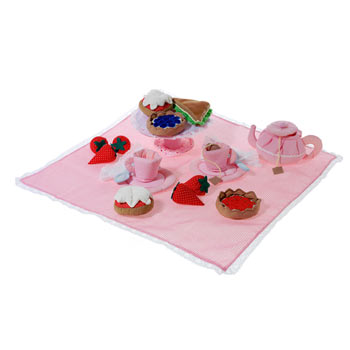 Fabric English Afternoon Tea Set Toy by Oskar and Ellen