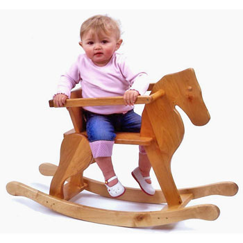 Wooden Junior Toddler Rocking Horse Toy