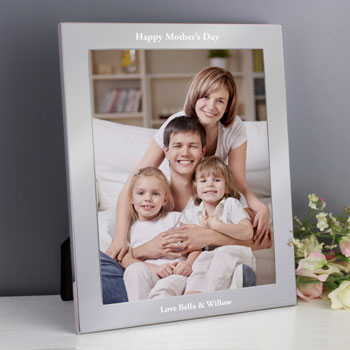 Plain Engraved Aluminium 10 x 8 Inch Aluminium Photo Frame