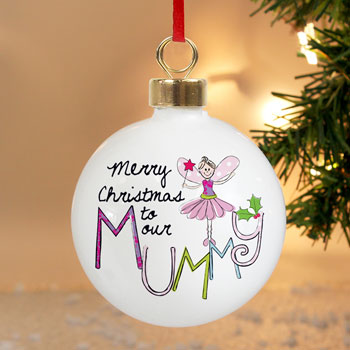 EXCLUSIVE - Mummy Christmas Personalised Tree Bauble