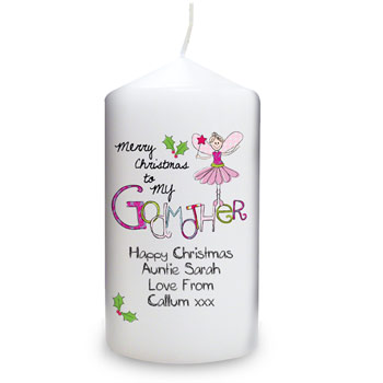 Exclusive Merry Christmas Godmother Candle