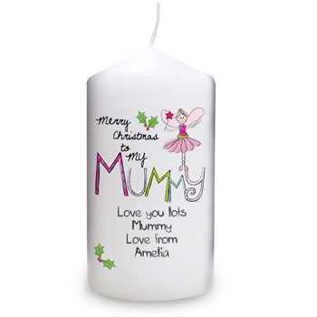 Exclusive Merry Christmas Mummy Candle