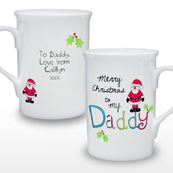 Exclusive Daddy Personalised Christmas Mug
