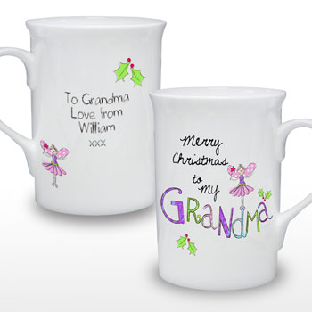 Exclusive Merry Christmas Grandma Personalised Mug