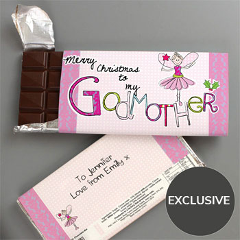 EXCLUSIVE - Godmother Christmas Chocolate Bar - Free Del