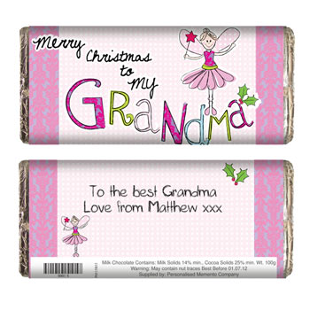 EXCLUSIVE - Grandma Christmas Chocolate Bar