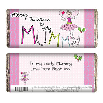 EXCLUSIVE - Mummy Christmas Chocolate Bar - Free Del