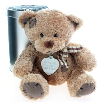 Personalised Tinned Teddy