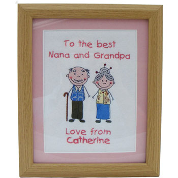 Embroidered Grandparents Frame