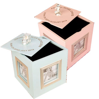 Personalised Musical Baby Keepsake Box Photo Frame
