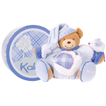 Kaloo Blue Large Chubby Bear with Mouse