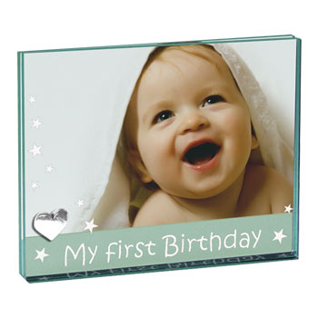 My First Birthday Glass Frame