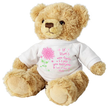 Personalised I'd Pick You Teddy Bear in a T-Shirt - Any Name