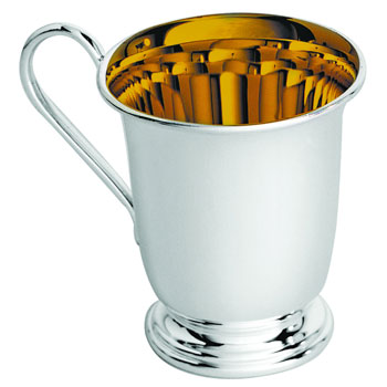 Carrs Silver Plated Christening Cup