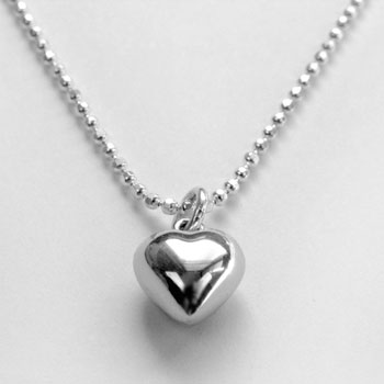 Kid's Silver Heart Necklace by Tales From The Earth